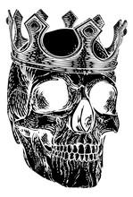 A Human Skeleton Skull Wearing...