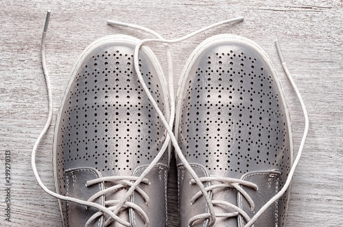 Photographie Silver sneakers