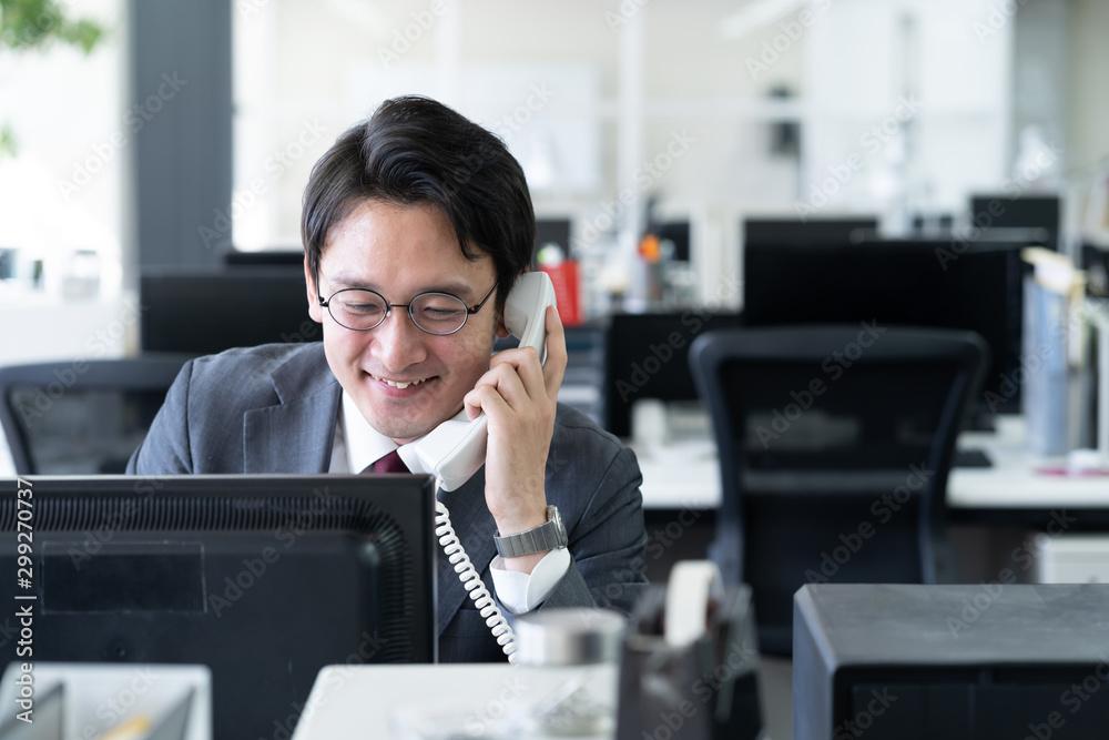 Fototapeta ビジネスマン 電話