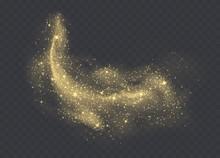 Golden Dust Cloud With Sparkle...