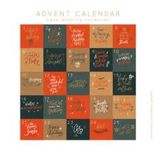 Advent Calendar Set Vector