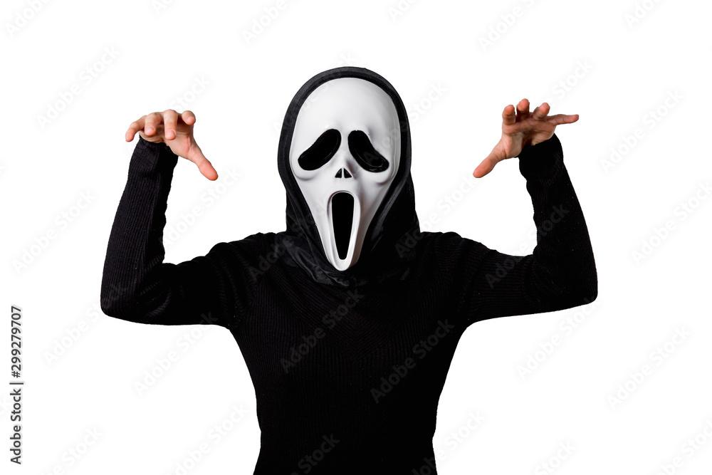Fototapeta Przebranie Halloween. Straszna maska. Duch.