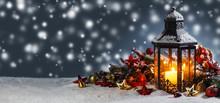 Lantern And Christmas Decoration