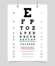 Poster Eyes Test Chart