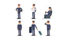 Aircraft Captain In Uniform Ve...