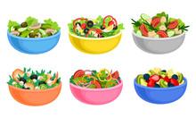 Fruit And Vegetable Salad Serv...