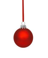 Rote Weihnachtskugel Mit Band ...