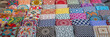 Leinwanddruck Bild - Colorful cushions and pillows in Dubai souks, United Arab Emirates