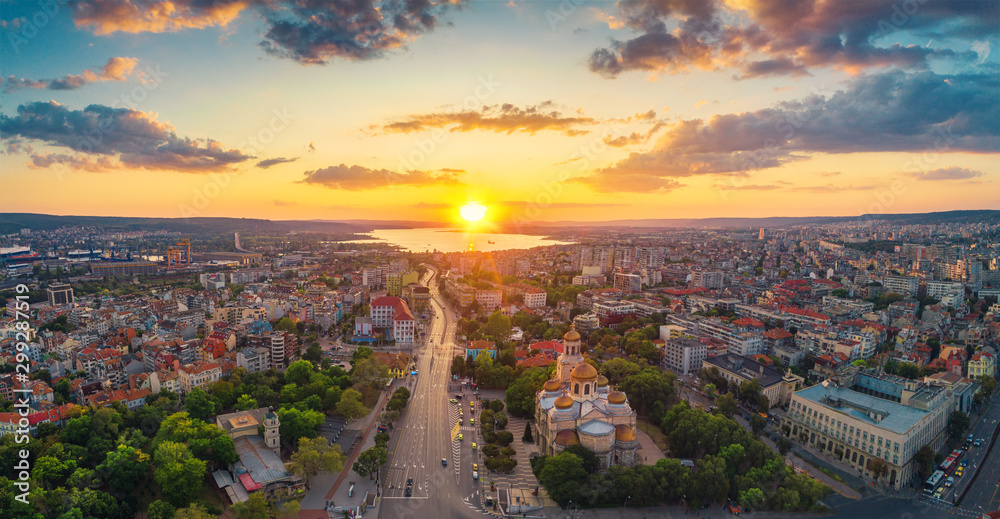 Fototapety, obrazy: The Cathedral of the Assumption in Varna, Aerial view
