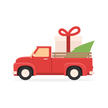 Christmas Red Truck