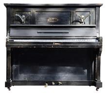 Old Wooden Black Vintage Piano...