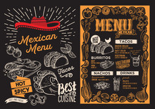 Mexican Menu Food Template For...