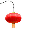Chinese Lanterns On Isolated W...