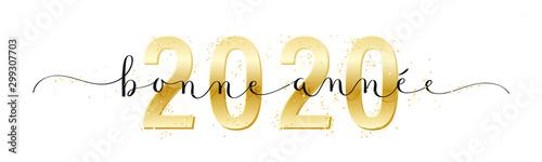 Photo Calligraphie vecteur BONNE ANNEE 2020