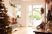 Hallway Of Home Decorated For ...