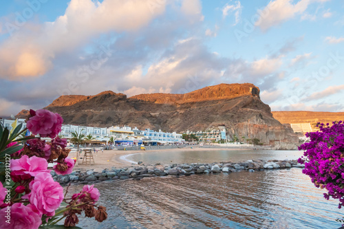 Fotografie, Tablou view of the beach of Puerto de Mogan in Gran Canaria, canary islands, Spain