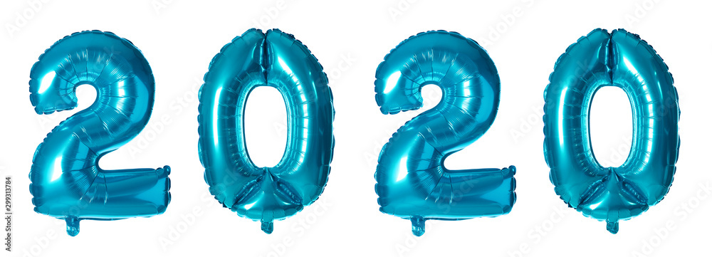 Fototapety, obrazy: Blue number one balloon on white background