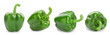 Leinwandbild Motiv Ripe green bell pepper on white background