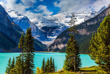 Glacial Lake Louise In Banff
