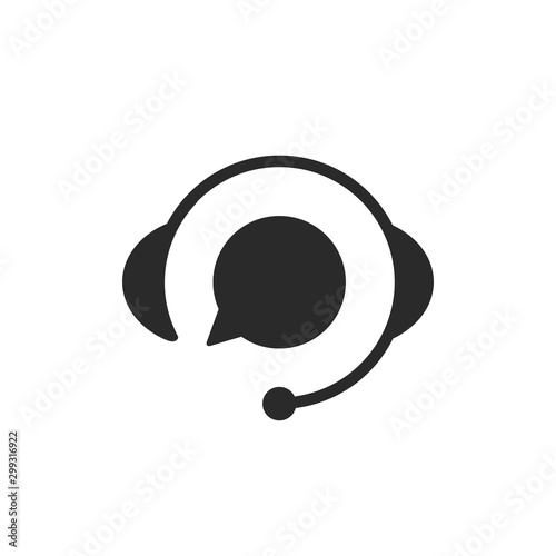 Fototapeta  Support with speech bubble on white background