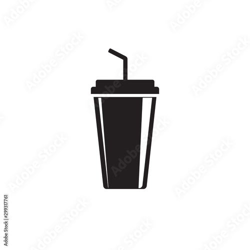 Fotomural  Soft drink flat icon. vector illustration flat style