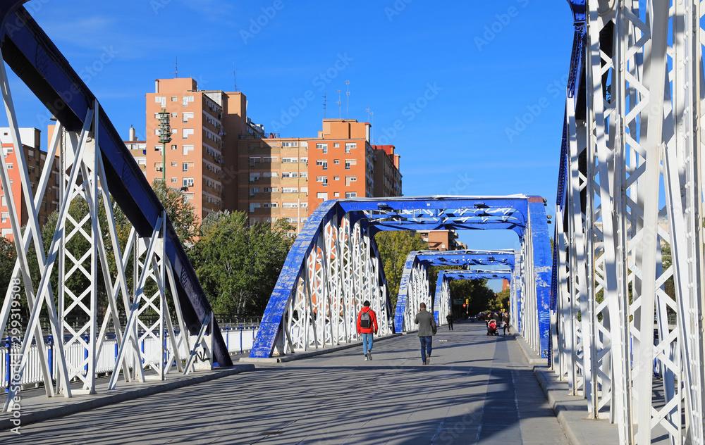 Fototapety, obrazy: puente de hierro sobre el rio ebro zaragoza 4M0A9151-as19