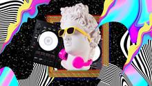 Apollo In Headphones And Sungl...