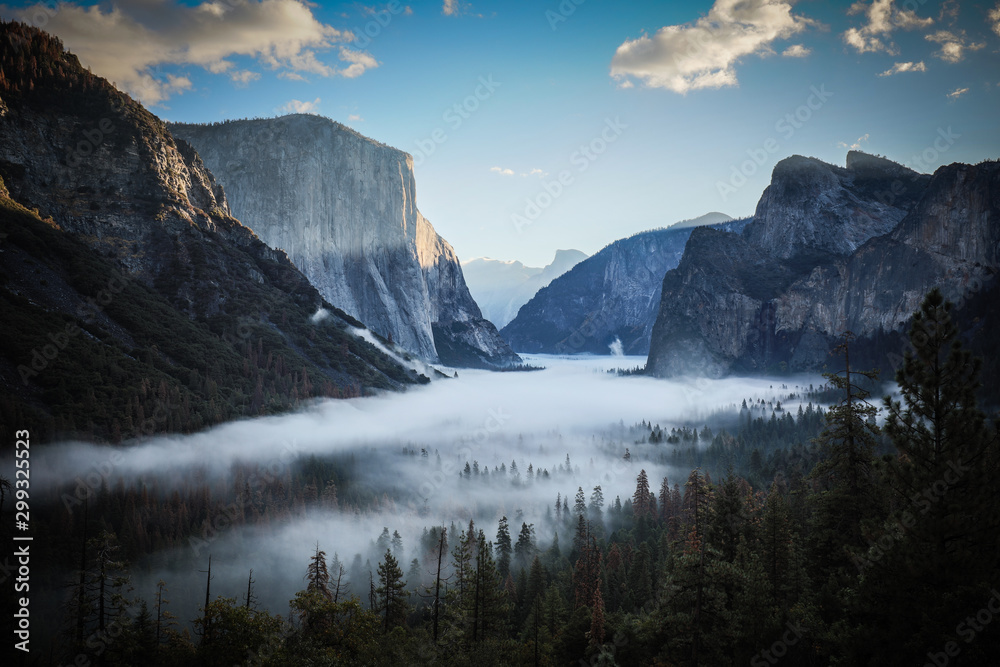 Fototapety, obrazy: Yosemite Valley from Tunnel View in USA