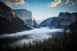 Yosemite Valley from Tunnel View in USA