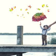Spaß Im Herbst Am See