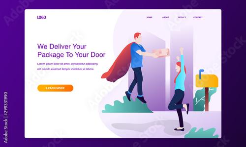 Fotografía  Modern flat design concept of online shipping, delivery service
