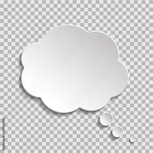 Bubble of think on transparent background Wallpaper Mural