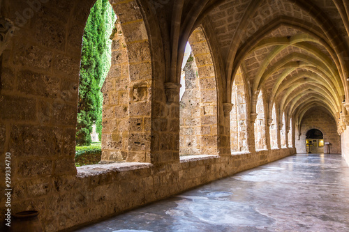 Tela Monasterio de Piedra en Nuévalos, en Provincia de Zaragoza.
