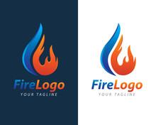 Fire Flame Logo Design Vector Template. Fire Logotype Concept Icon Illustration