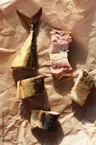 Fototapety, obrazy: Delicious golden fish on the table close up