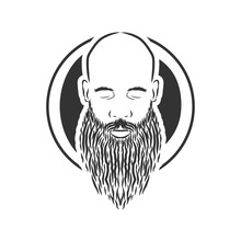 Bald Man With Beard, Vintage S...