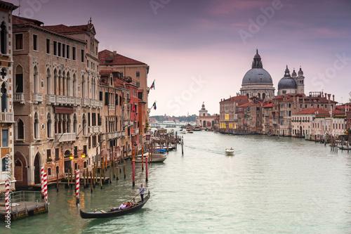 Fototapety, obrazy: Venice city at sunset with Santa Maria della Salute Basilica, Italy