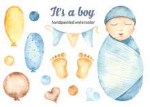 Watercolor Set Is A Boy With A...