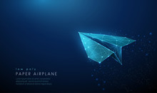 Paper Air Plane. Low Poly Styl...