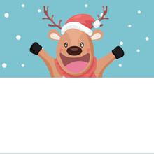 Happy Reindeer In Merry Christ...