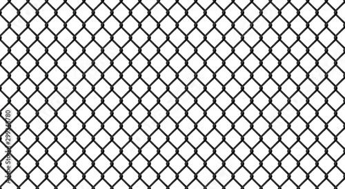 Valokuvatapetti Black chrome Steel Grating structure background.