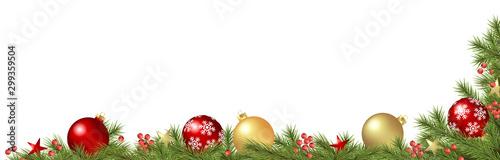 Fototapeta decorated christmas fir branches concept obraz