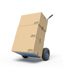 3d Rendering Of Cardboard Boxe...