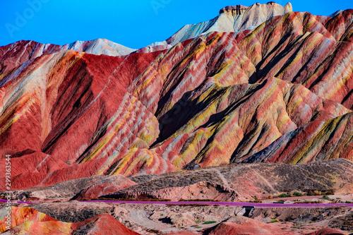 Fototapeta Zhangye Danxia Landform Geopark Gansu China