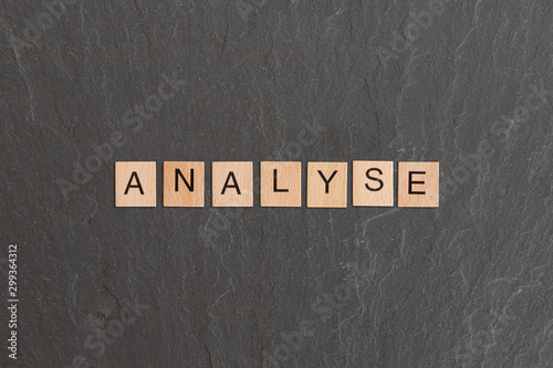 analyse written with game tiles Wallpaper Mural