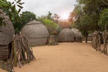 Hütten Eines Zulu Dorfes