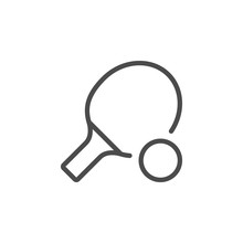Ping Pong Inventory Line Outline Icon