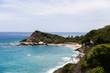 Beautiful wild caribbean beach landscape at Tayrona, Colombia