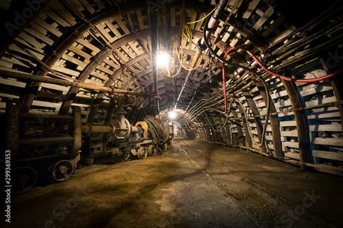 Obraz kopalnia górnictwo przemysł - fototapety do salonu