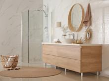 Modern Bathroom Interior With ...